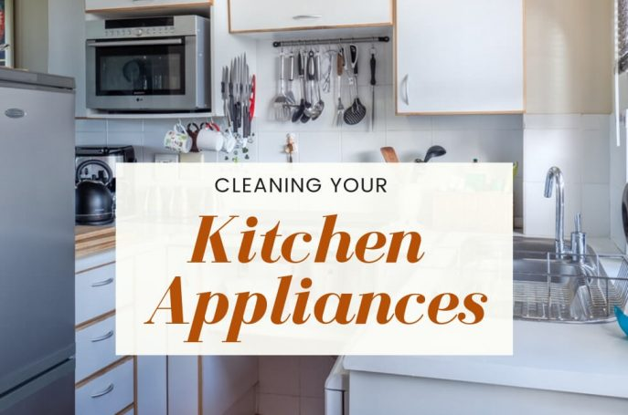 Cleaning kitchen appliances